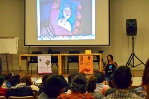 Ana Lucía de Mujeres Al Borde, hablando de los cuatro documentales creados en Ecuador