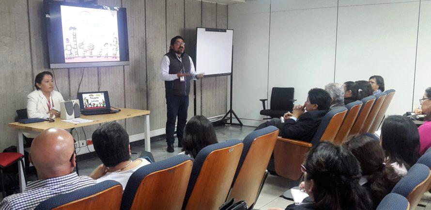 Taller sobre educación y diversidad en el Ministerio de Educación de Ecuador.